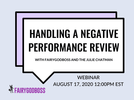 Handling a Negative Performance Review